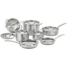 Cuisinart Multiclad Pro Tri-Ply 12 pc. Stainless Cookware Set (MCP-12N)