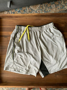 Polo Sport Ralph Lauren Swim Gray Athletic Shorts Lined | Size M - Torn Pockets