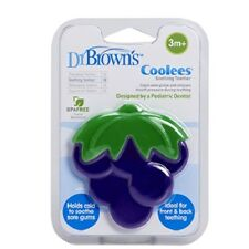 Dr Brown's Coolees Grape Soothing Baby Teether Cools Gums BPA Free 3 Months+