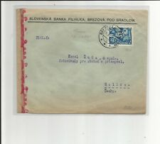 Europa Union / Slowakei / 10.XI.42 Mi.-Nr. 104 als EF a. Pra.-Bed.-Brief v. BREZ
