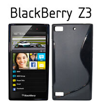 TPU gel silicone case cover S-line black for BlackBerry Z3