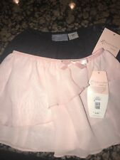 Danskin Girl's Black & Pink Dance Tutu Skirt 6/6X Small NWT