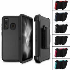 For Samsung Galaxy A20 / A30 Heavy Duty Armor Rugged With Belt Clip Holster Case