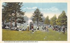 D53/ Lookout Mountain Colorado Co Postcard c1910 Picnic Automobiles People