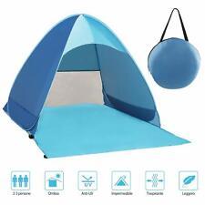 Tenda da Spiaggia Pop-up Portatile con Protezione Solare UPF 50+ per 2-3 Persone