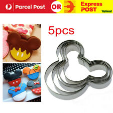 5pcs Mouse Shape Style Mickey Minnie Cookie Cutter Kids Biscuit Mold Party Dough