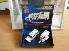 Corgi Emergency Motors Land Rover Defender + Horsebox in White on 1:43 in Box