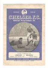 Chelsea Football Reserve Fixture Programmes (Pre-1950)