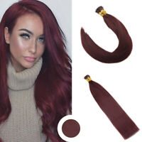 Ugeat 50g I Tip Stick Pre-bonded Human Remy Hair Extensions Deep Red Wine 99J#
