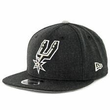 "New Era 950 San Antonio Spurs ""Heather Hype"" Snapback Hat (Heather Black) Cap"