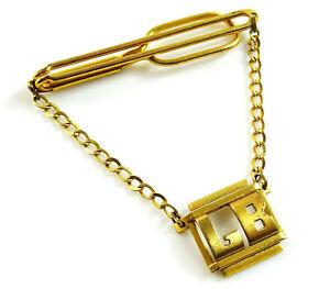 Swank Vintage Tie Chain Letters LB Initial Monogram