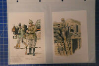 Friedrich Ludwig SCHARF 4 Bildtafeln Uniformkunde Sammlung Franz Gauker B25937