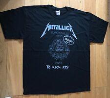 More details for metallica pass to kick ass tallinn concert tour t shirt x large new