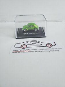 2007 Hot Wheels Volkswagen VW Beetle Bug - Green Metallic - 1:87 - Acrylic Case