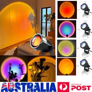 LED Sun Sunset Rainbow Projector Atmosphere Light Lamp USB Home DIY Gifts