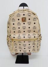 Authentic MINT MCM Backpack BEIGE Vintage Leather Visetos