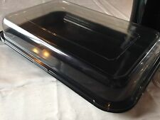 20 x partyfood/sandwich trays/platters (large)  with clip on see through lids.