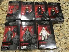 Star Wars Black Series Lot 7 Jawa Han Lando Death Star Trooper grand Moff NIB