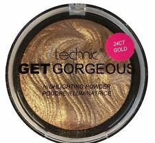 technic Get Gorgeous Highlighting Bronze Face Powder Cheek Contour Highlighter