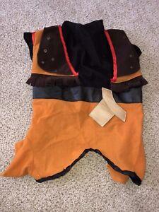 Halloween Cowboy Pet Dog Costume Size Medium orange brown red black