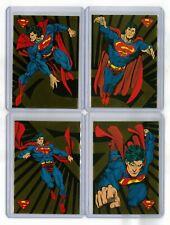 1993 Skybox DC The Return Of Superman Complete Foil Set of 4 Rare