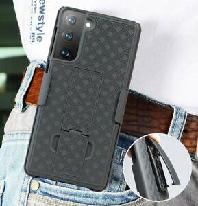 For Samsung Galaxy S21 S21+ Ultra 5G Hard Holster Swivel Belt Clip Case Black