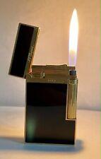 Vintage lighter Dupont Ligne 2 Black Laque & Gold Plated Very, Very Good