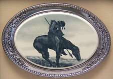 Belt Buckle Barlow Photo Reproduction End of Trail Indian Art Horse 592410 n