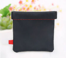 Storage Bag Pouch Box EDC Case for Earphones PU Headphones Headset Spring Square