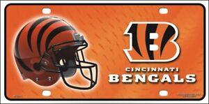"Cincinnati Bengals Metal Embossed License Plate 6"" x 12"" NFL Officially Licensed"