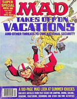 Vtg Mad Magazine Super Special Winter 1982 Takes Off On Vacations m1278