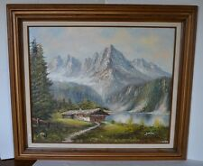 Vintage Oil Painting Of Landscape By Zolan Mountains