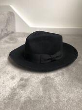 Black Fedora Hat. Size L