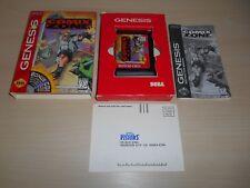 Comix Zone Complete In Box CIB Sega Genesis Game Comics Zone