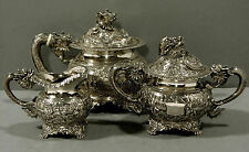 "Chinese Export Silver Tea Set    DRAGONS       ""WL"""