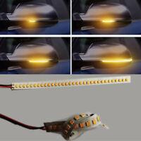 2x 18cm 32 LED Gelb Auto Außenspiegel Blinker Lichtleiste Sequentiell LAUFEFFEKT