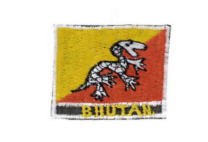 Patch Embroidered Flag Bhutan AF-A30