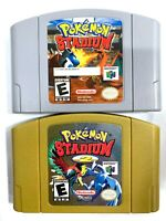 Pokemon Stadium 1 and 2 for Nintendo 64, N64 LOT Authentic Games Tested Working