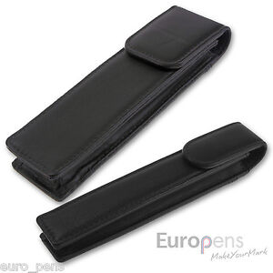 Magnetic Leather Pen Case or Pouch - Choose Size: Single, Double, Pouch