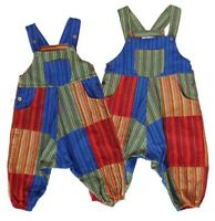 Kids/Baby Funky Threads Hippy Patch Work Style Long Dungarees 12-18 Months Old