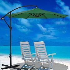 3M Garden Banana Parasol Sun Shade Patio Hanging Rattan Set Umbrella Cantilever