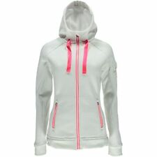 Women's Spyder Ardent Full Zip Core Mid Weight Sweater Hoodie Jacket White XS
