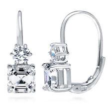 BERRICLE Sterling Silver CZ Leverback Dangle Drop Earrings