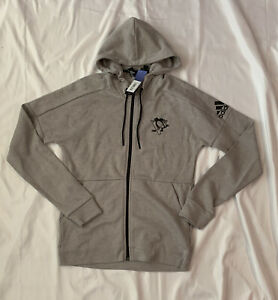 Mens Pittsburgh Penguins adidas Stadium ID Full-Zip Hoodie Jacket Small NWT $100