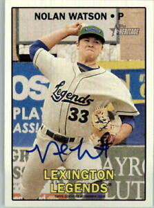 2016 Topps Heritage Minors Real One Autographs #ROANW Nolan Watson