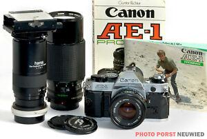 Canon AE-1 Program mit 2 Canon Objektiven * Spiegelreflexkamera aus alten Zeiten