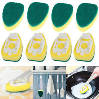 8Pcs Replacement Heads Sponge Brush Dish Scrubber Pads for Kitchen Sink Pot