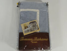 New Tommy Bahama Home Dominique European Euro Pillow Sham Blue White Striped Bed