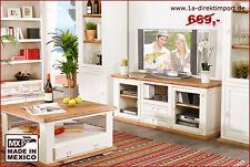 MEXICO Möbel weiß /honig: TV Tisch Lowboard TV-Kommode Phonoschrank Pinie shabby