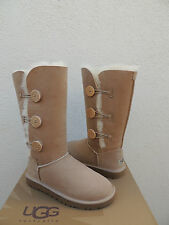 UGG BAILEY BUTTON TRIPLET SAND SUEDE/ SHEEPSKIN BOOTS,  WOMEN US 9/ EUR 40 ~NEW